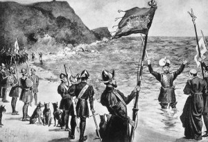 spanish-arrival at Mexico